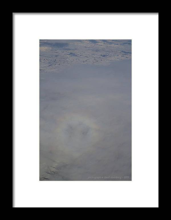 Aerial Framed Print featuring the photograph Round Rainbow Over Snow by David Eisenberg