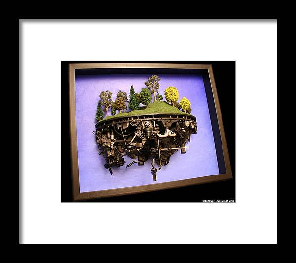 Jud Turner Framed Print featuring the sculpture Roundup by Jud Turner