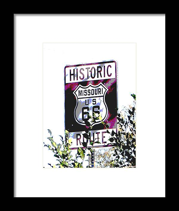 Car Framed Print featuring the photograph Route 66 2 by Audrey Venute
