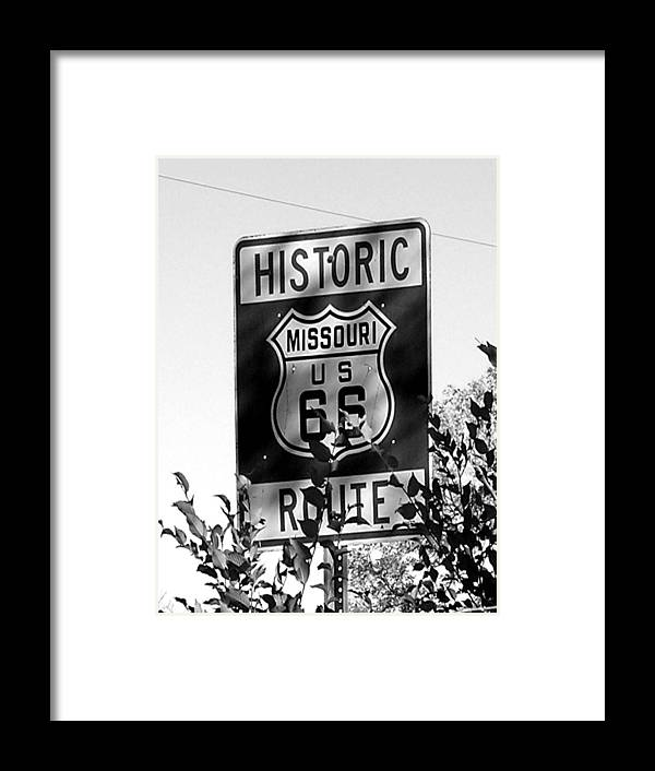 Car Framed Print featuring the photograph Route 66 by Audrey Venute