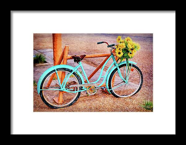 Route 66 Vintage Bicycle Framed Print featuring the photograph Route 66 Vintage Bicycle by Priscilla Burgers