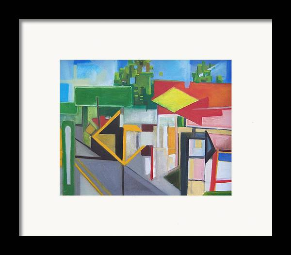 Suburban Framed Print featuring the painting Route Forty Six Ft.lee Leonia by Ron Erickson