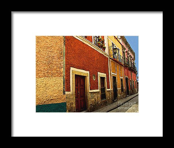 Darian Day Framed Print featuring the photograph Row Of Casas Guanajuato by Mexicolors Art Photography