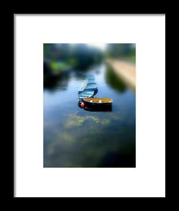 Boats Framed Print featuring the photograph Rowboats by Dan McCarthy