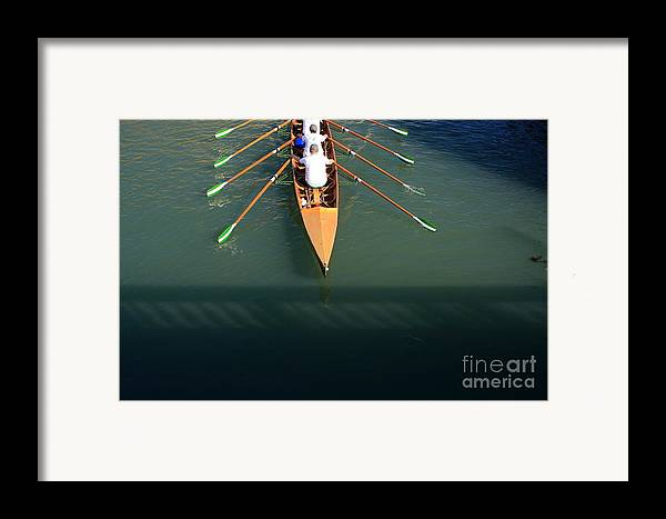 Venice Framed Print featuring the photograph Rowers In Venice by Michael Henderson