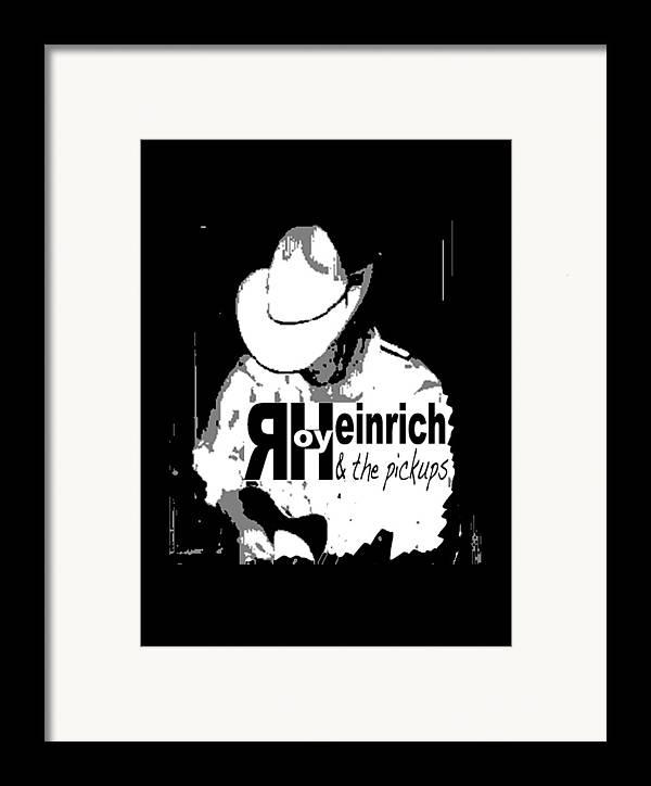 Roy Heinrich Framed Print featuring the digital art Roy Heinrich T-shirt by Debra Hurd