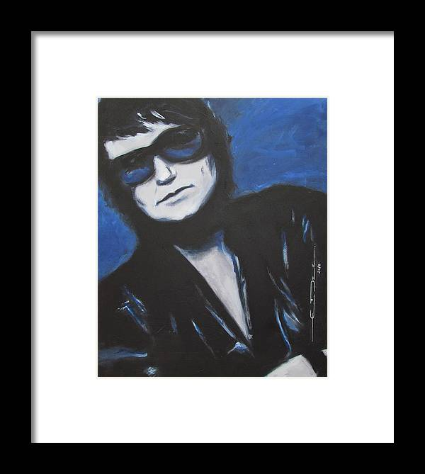 Celebrity Portrait Framed Print featuring the painting Roy Orbison In Beautiful Dreams - Forever by Eric Dee
