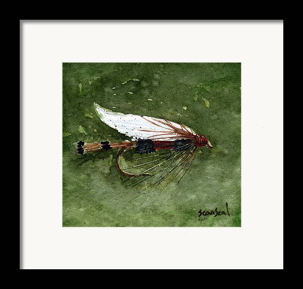 Fly Fishing Framed Print featuring the painting Royal Coachman Wet Fly by Sean Seal
