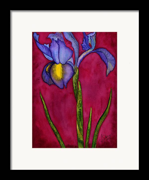 Iris Framed Print featuring the painting Royal Dutch by Stephanie Jolley