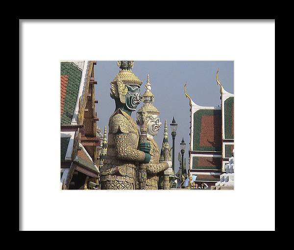 Travel Framed Print featuring the photograph Royal Guardians by William Thomas