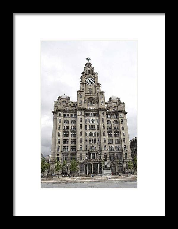 Liverpool Framed Print featuring the photograph Royal Liver Building Liverpool by Christopher Rowlands