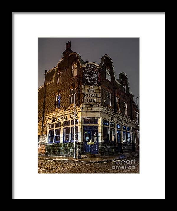 Royal Oak Framed Print featuring the photograph Royal Oak Pub Columbia Road London by Philip Pound