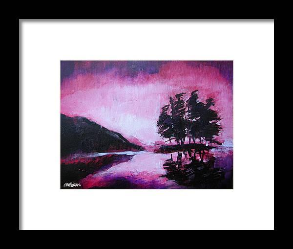 Ruby Dawn Framed Print featuring the painting Ruby Dawn by Seth Weaver