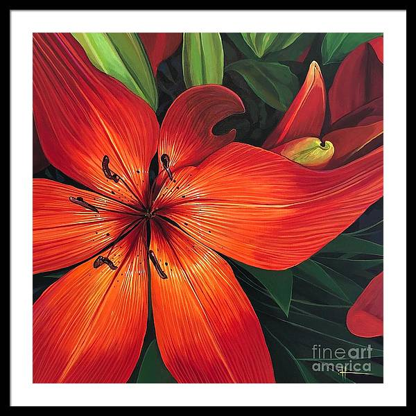 Stargazer Framed Print featuring the painting Ruby Lane by Hunter Jay