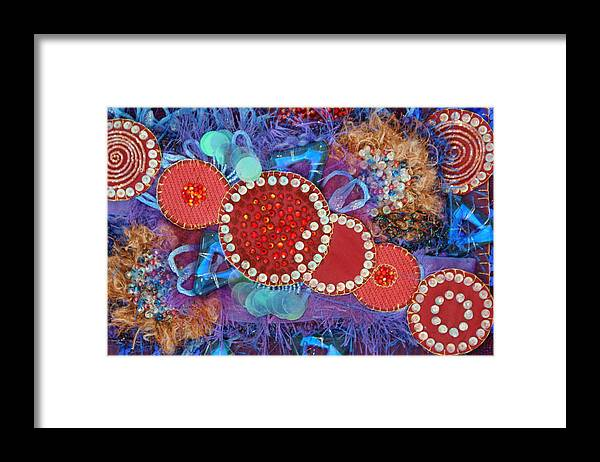 Framed Print featuring the mixed media Ruby Slippers 1 by Judy Henninger