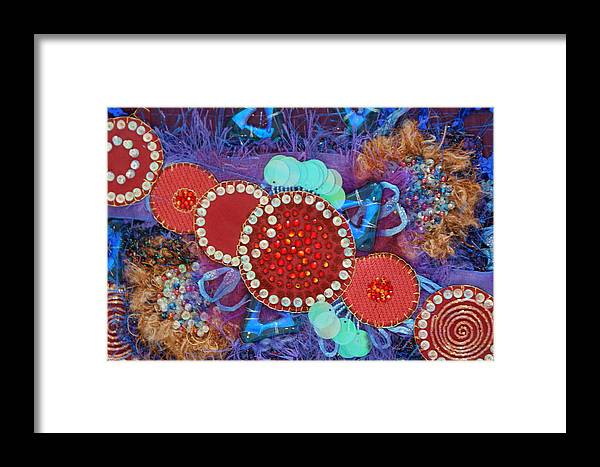 Framed Print featuring the mixed media Ruby Slippers 2 by Judy Henninger