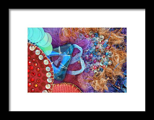 Framed Print featuring the mixed media Ruby Slippers 8 by Judy Henninger