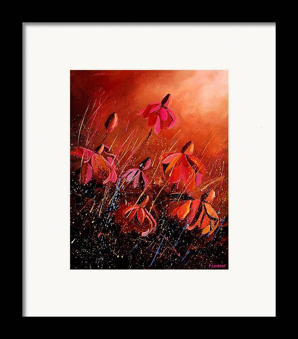 Poppies Framed Print featuring the painting Rudbeckia's 45 by Pol Ledent