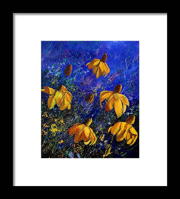 Poppies Framed Print featuring the painting Rudbeckia's by Pol Ledent