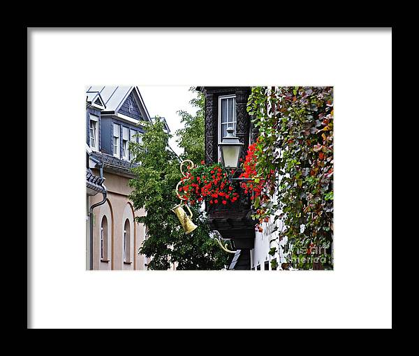 Rudesheim Framed Print featuring the photograph Rudesheim 3 by Sarah Loft