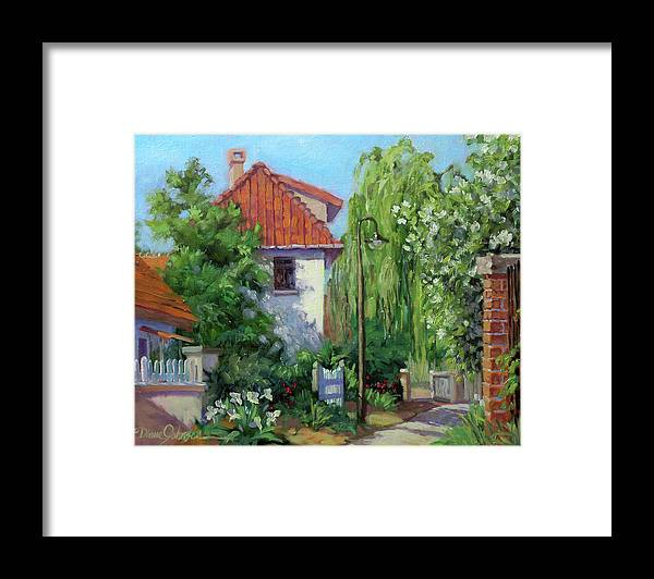 Giverny France Framed Print featuring the painting Rue Claude Monet by L Diane Johnson