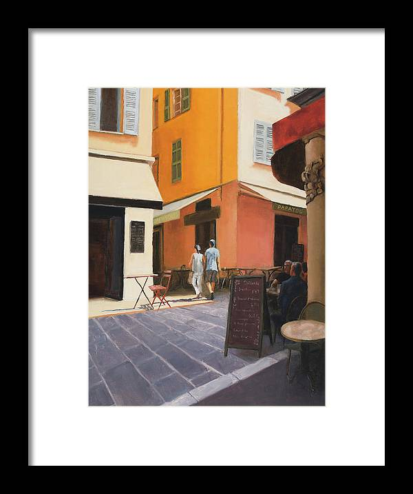 Nice Framed Print featuring the painting Rue En Nice by Tate Hamilton