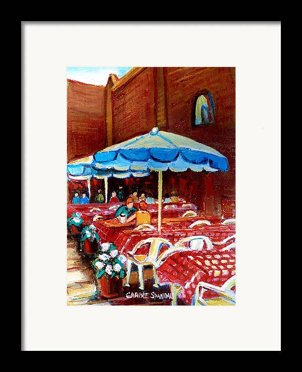 Rue Prince Arthur Framed Print featuring the painting Rue Prince Arthur by Carole Spandau