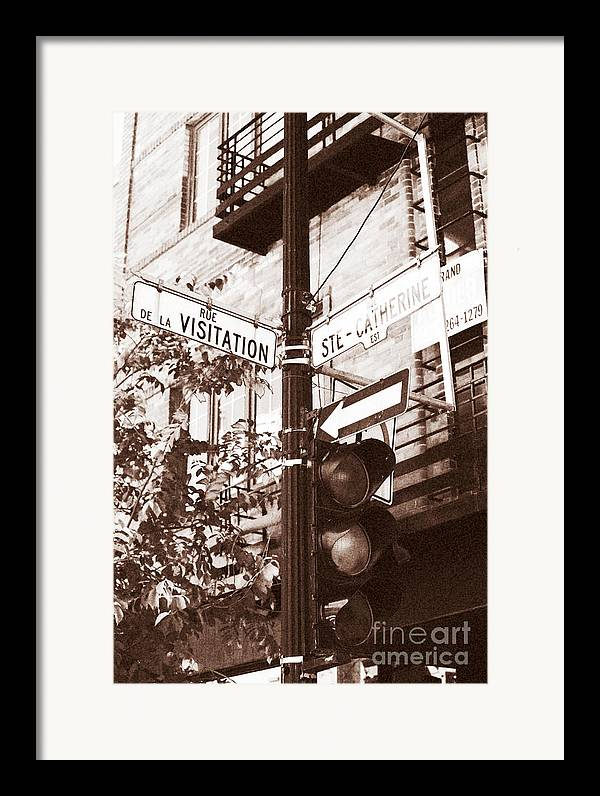 Montreal Framed Print featuring the photograph Rue Visitation by John Rizzuto