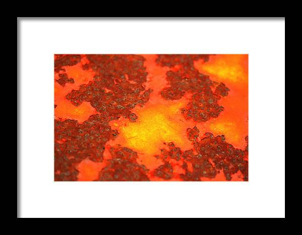 Rusty Metal Photograph Framed Print featuring the photograph Rugged Terrain by Susan Moore