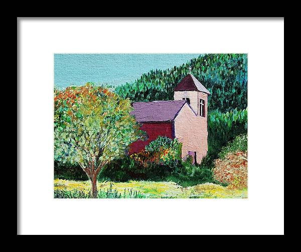 Church Framed Print featuring the painting Ruidoso by Melinda Etzold