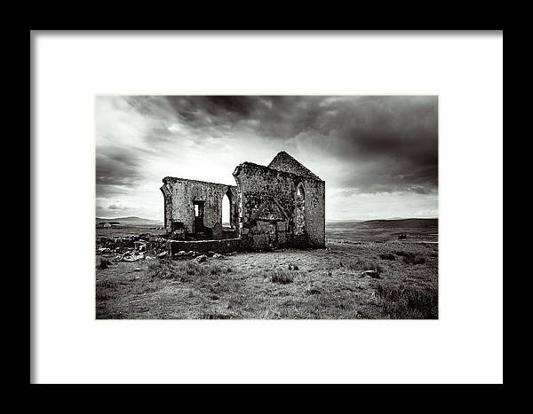 Ruin Framed Print featuring the photograph Ruin Of A Church On The Island Of Skye, Scotland by Ineke Mighorst