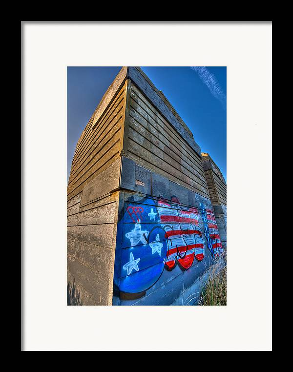 Montauk Framed Print featuring the photograph Ruins Graffiti by Mike Horvath