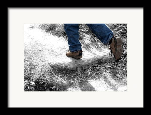 Run Framed Print featuring the photograph Run Away by Jeannie Burleson