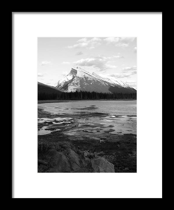 Rocky Mountains Framed Print featuring the photograph Rundell by Tiffany Vest