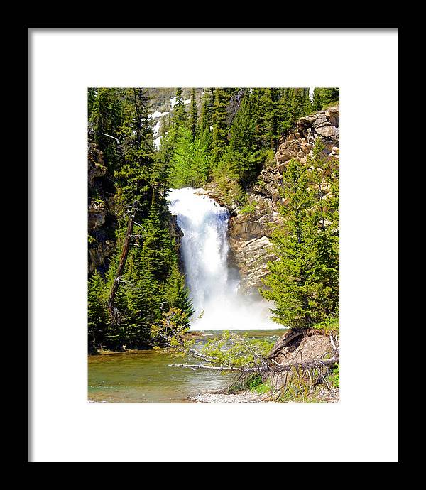 Waterfalls Framed Print featuring the photograph Running Eagle Falls by Marty Koch