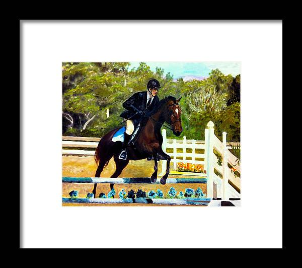 Horse Framed Print featuring the painting Running Free by Beverly Johnson