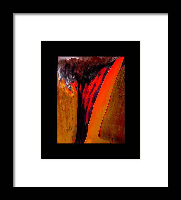 Contemporary Framed Print featuring the painting Running Red by Stephen Anderson