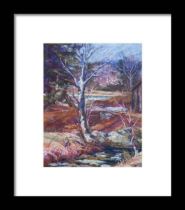 En Plein Air Framed Print featuring the pastel Running Upstream by Alicia Drakiotes
