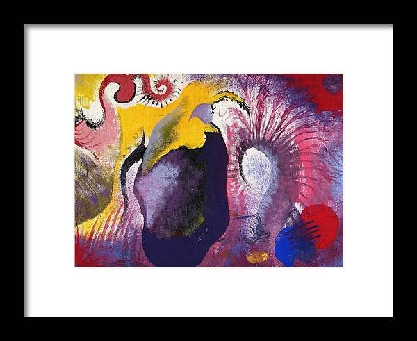 Abstract Framed Print featuring the painting Runoff Revolt by Nathaniel Hoffman