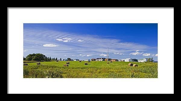 Farm Framed Print featuring the photograph Rural Bay Du Vin by Levin Rodriguez