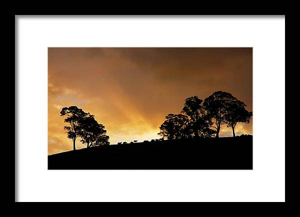 Sunset Framed Print featuring the photograph Rural Glory by Mike Dawson