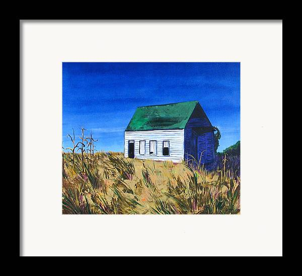 Landscape Framed Print featuring the painting Rural House by Rollin Kocsis