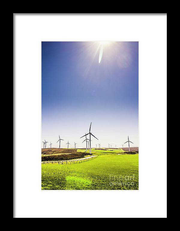 Sky Framed Print featuring the photograph Rural Power by Jorgo Photography - Wall Art Gallery