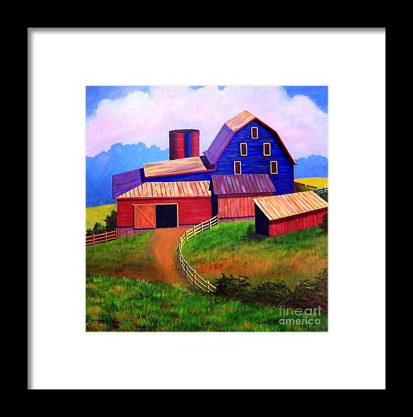 Landscape Framed Print featuring the painting Rural Reverie by Hugh Harris