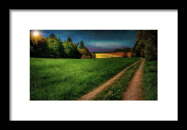 Sunset Framed Print featuring the photograph Rural Sunset by Reinhold Silbermann