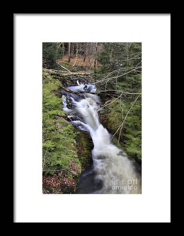 Rural Framed Print featuring the photograph Rushing Montgomery Brook by Deborah Benoit