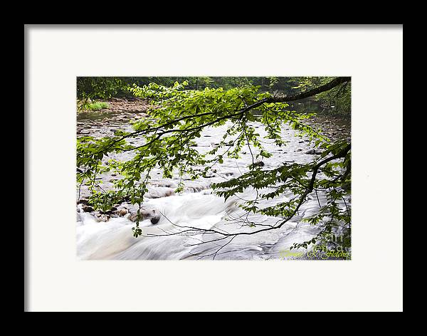 West Virginia Framed Print featuring the photograph Rushing River by Thomas R Fletcher