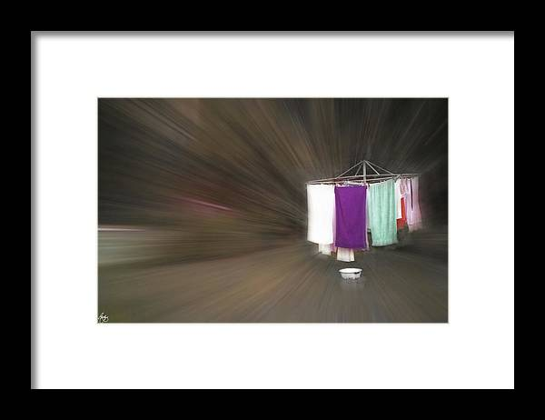 Wash Framed Print featuring the photograph Rushing To The Washline by Wayne King