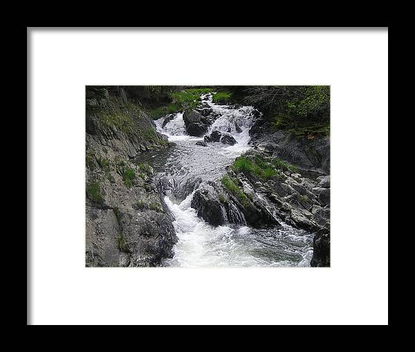 Waterfalls Framed Print featuring the photograph Rushing Waterfalls by Allison Prior