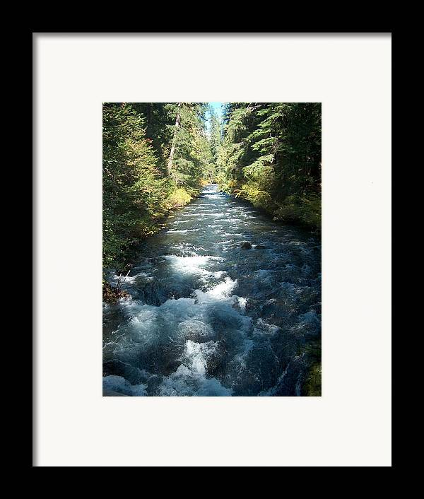 Water Stream Creek Mckenzie River Bend Oregon Framed Print featuring the photograph Rushing Waters by Janet Hall